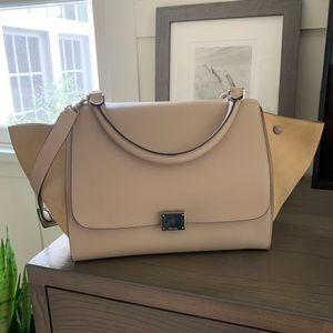 Celine Trapeze Bag Tan Suede Medium